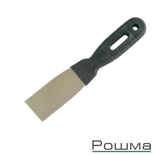 Шпатель фасадный 40мм, нержавеющая сталь 0,5мм, пластиковая ручка