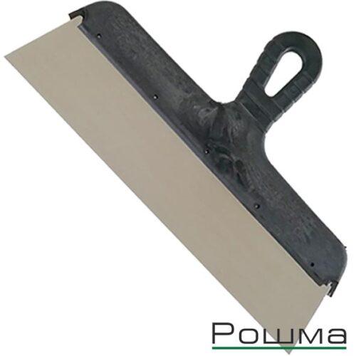 Шпатель фасадный 350мм, нержавеющая сталь 0,5мм, пластиковая ручка